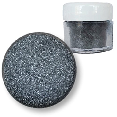 Moonstone Dark Silver Edible Luster Dust, 4g Jar | Bakell Food Grade Decorating Glitters & Dusts for Dessert, Foods & Drinks