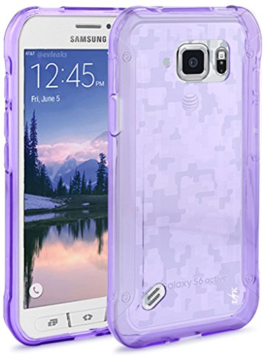 S6 Active Case, LK Ultra [Slim Thin] TPU Gel Rubber Soft Skin Silicone Protective Case Cover for Samsung Galaxy S6 Active (Purple)