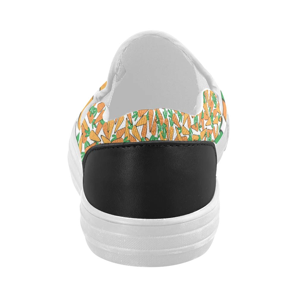 Canvas Men Shoes Carrot Pattern Canvas Slip-on Casual Printing Comfortable Low Top Sneakers for Boys
