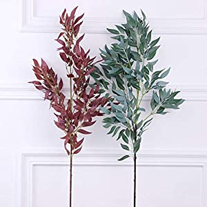 Artificial & Dried Flowers - 1pc Artificial Willow Plant Home Garden Wedding Decor Stage Performance Prop Fashion - Dried Flowers Artificial Artificial Dried Flowers Garden Patio Green Wi 23