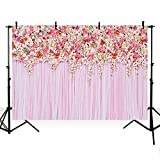 MEHOFOTO Flower Photo Backdrop Seamless Vinyl Photography Background Studio Lilac Backdrop 75ft