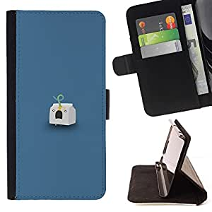 Momo Phone Case / Flip Funda de Cuero Case Cover - Milk Headshot - LG OPTIMUS L90