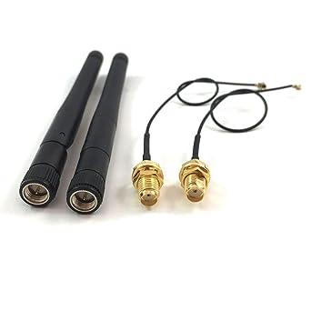 2 unidades de 433 MHz antena RF Sma macho Connetcor de alta ganancia 3 dbi + 2 unidades u.fl ipx a Sma hembra Connetcor 1.13 Cable 15 cm