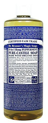 Dr. Bronner's Magic Pure-Castile Soap, Value 40 Ounce Bottle, 18-in-1 Hemp Peppermint by Dr. Bronner's -
