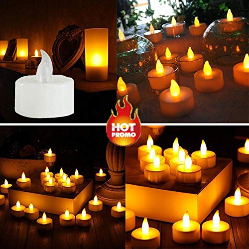 LiPing 6PCS LED Tea Light Candles Realistic Battery-Powered Flameless Candles Light Night Light, Relaxing Light Show for Bedroom Living Room (A) by LiPing (Image #5)