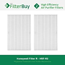 2 - Honeywell R Filters, HRF-R3 HEPA Filters. Designed by FilterBuy to fit Honeywell HPA-090 Series, HPA-100 Series, HPA200 Series & HPA300 Series Air Cleaning Systems.