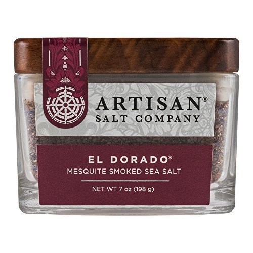 SaltWorks El Dorado Mesquite Smoked Sea Salt, Boutique Glass Jar, 7 (Alder Wood Smoked Salt)