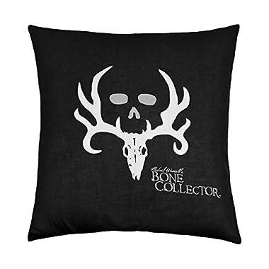 Bone Collector Square Pillow, Black