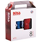 Boss Audio KIT2 8 Gauge Amplifier Installation Kit with High Performance RCA Interconnect and Speaker Wire