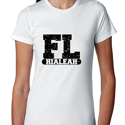 Hollywood Thread Hialeah, Florida FL Classic City State Sign Women's Cotton T-Shirt