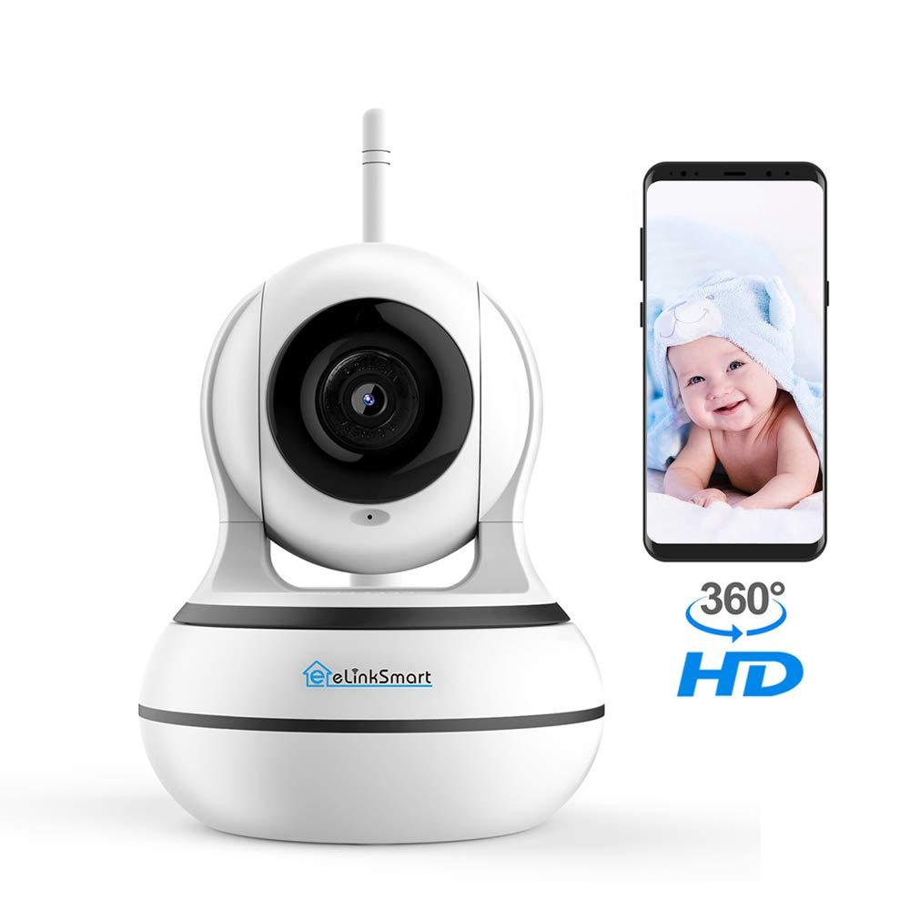 WiFi Camera Wireless Security Camera Pan Tilt Zoom Home Video Monitor  eLinkSmart Two Way Audio IP Camera Recording 960P HD Night Vision Motion