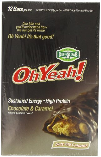 ISS Oh Yeah! High Protein Bar, Chocolate Caramel, 45g, 12-Count Box