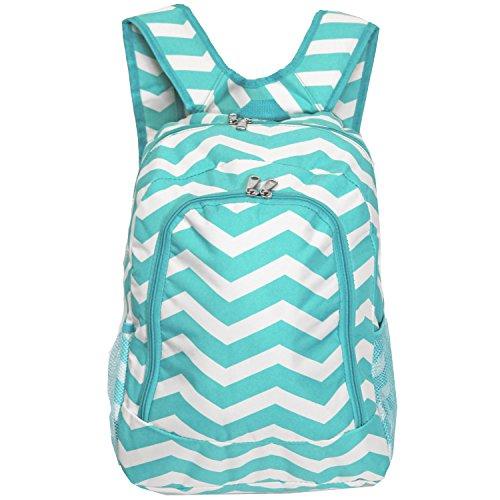 World Traveler Multipurpose Backpack 16-Inch, Blue White Chevron, One Size by World Traveler (Image #6)