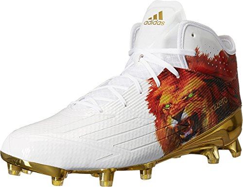adidas Adizero 5-Star 5.0 Mid Uncaged Mens Football Cleat 12 Lion/White/Gold Met