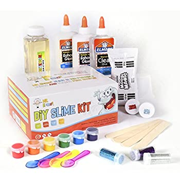 Amazon baby mushroom ultimate diy slime kit make glow in the diy slime set by mr emc2 2nd edition brand new slime starter kit for boys girls all inclusive w easy no fail instructions and slime stuff supplies solutioingenieria Images