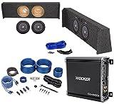 2009-Up Ford F-150 Super Crew Sub Box+2 Kicker 10'' Subwoofers+Mono Amplifier+Kit