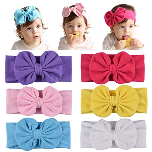 - DEEKA Big Bow Headbands Soft Stretch Head Wrap for Newborn Infant Baby Girls