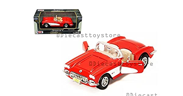 Chevy Chevrolet Corvette 1959 rojo 1:24 motor max maqueta de coche 73216
