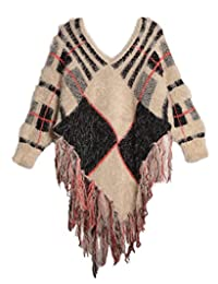 TruLuv Oxford Chunky Girls Poncho Sweater