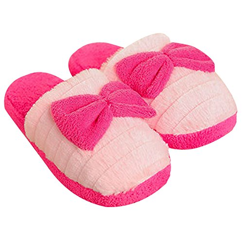 Rosesummer Butterfly Knot Indoor House Slipper Red