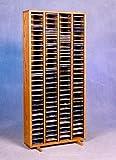 Oak CD Rack - 320 CD Capacity (honey oak) (52'' H x 24.75'' W x 6.75'' D)