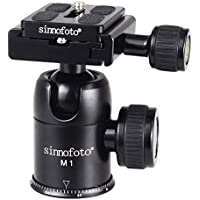 Sinnofoto M1 Aluminium Duty Photography Camera Tripod Ball Head 360 Degree Fluid Rotation Tripod Ballhead For DSLR Camera Quick Release Plate