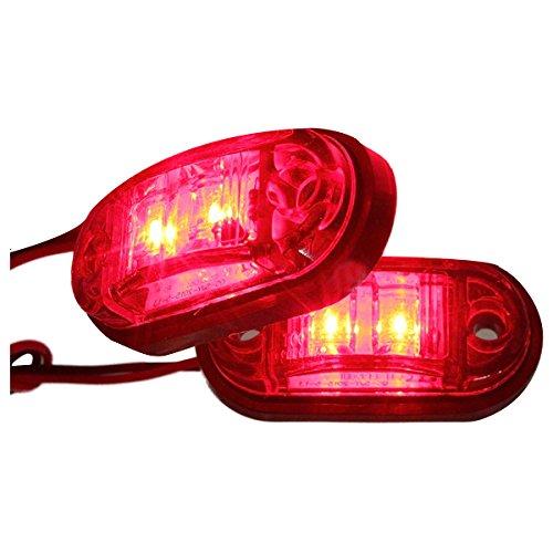 REFURBISHHOUSE 12V 24V 2 LED Lampara Luces de Marcador Lateral para Remolque camion Coche E-Marcado Blanco