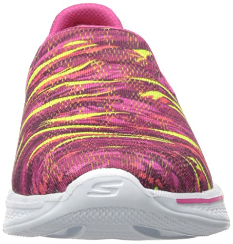 Skechers Performance Dames Go Walk 4 Elektrify Flourish Loopschoen Roze / Multi