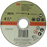 3M Green Corps Cut-Off Wheel 20275, Ceramic, 13300 rpm, 4-1/2' Diameter x 3/64' Width, 7/8' Arbor, Green (Pack of 50)