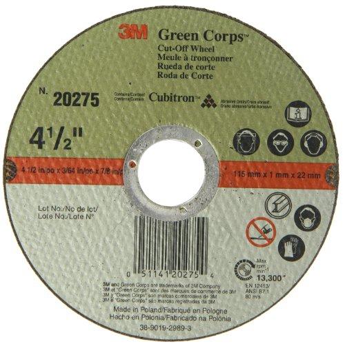 3M Green Corps Cut-Off Wheel 20275, Ceramic, 13300 rpm, 4-1/2