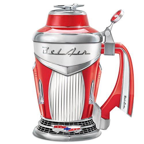 Chevy Bel Air Officially Licensed Tail Fin Handled Porcelain Stein by The Bradford Exchange