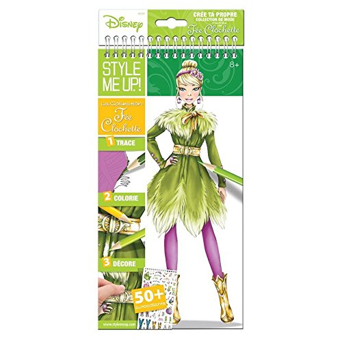 Style Me Up - Tinker Bell Coloring Book - Disney Coloring Pages for Girls - Girls Art and Craft Set - SMU-2107 -