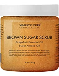 Exfoliating Brown Sugar Body Scrub - Natural Body & Face Scrub - Reduces The Appearances of Cellulite, Stretch Marks, Acne, and Varicose Veins, 10 oz