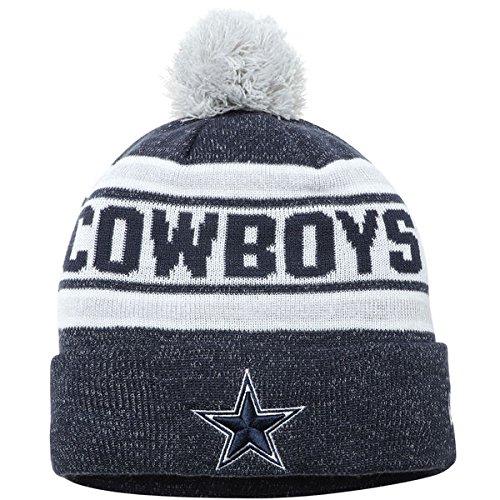 Dallas Cowboys New Era Toasty Cover Cuffed Pom Knit Beanie Navy