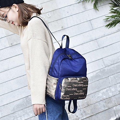 Outreo Schulrucksack Vintage Rucksack Damen Daypack Schul Schultaschen Lässige Backpack Sporttasche Rucksäcke Mädchen Freitag Tasche Weekender Bag für Reisetasche Blau