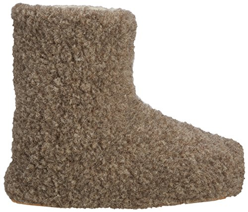 Woolsies Yeti Natural Wool Slipper Booties - Zapatillas de casa unisex Brown (Latte Brown)
