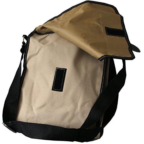 Sportliche Handtasche in Natur mit Innen- und Außentaschen