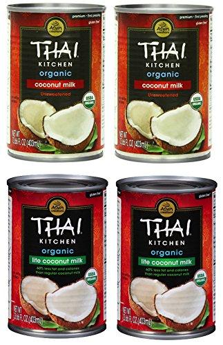 Assorted Thai Kitchen Organic Coconut Milk Variety Pack, 4 count by Thai Kitchen