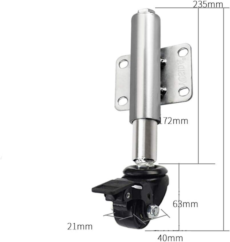 XiMige Rueda de Muelle silencioso Amortiguador Rueda telesc/ópica Resistente al Desgaste 60 mm rodamiento Peso 70 kg Color Negro Material de Nylon