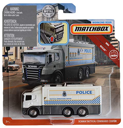 - Matchbox Working Rigs Rescue Series Scania Tactical Command Center, White/Gray