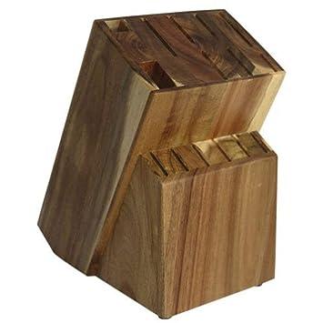 Coninx Messerblock Unbestuckt Holz Messerhalter Raf Messerstander Aus Hochwertigen Akazienholz Gefertigt Messerhalter Fur Eine Organisierte Und