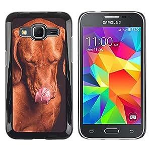 Be Good Phone Accessory // Dura Cáscara cubierta Protectora Caso Carcasa Funda de Protección para Samsung Galaxy Core Prime SM-G360 // Golden Retriever Puppy Dog Chocolate
