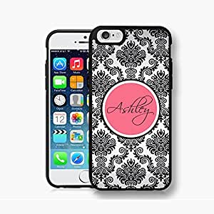 Damask Pattern Monogram Rose Plastic Case For IPhone 6 by runtopwell