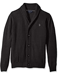 Men's Seed Stitch Texture Shawl Cardigan Sweater