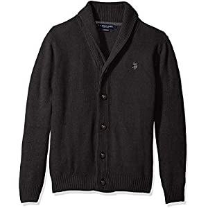 U.S. Polo Assn. Men's Seed Stitch Texture Shawl Cardigan Sweater