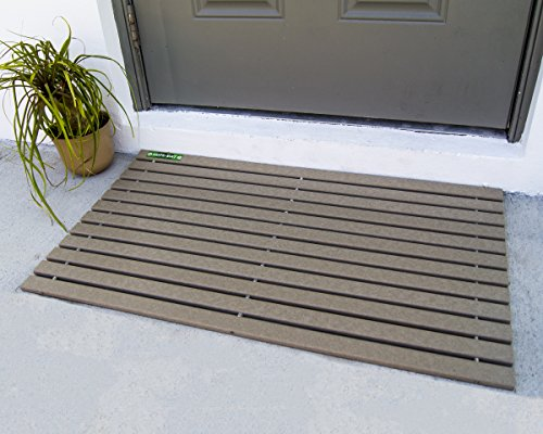 HDPE-MAT UV Resistant Heavy Duty Waterproof Front Door Mat | Stylish Handcrafted Recycled Plastic Poly Lumber Slats - Eco Friendly For Outdoor Entrance Patio Garage Entry by HDPE-MAT (Image #1)