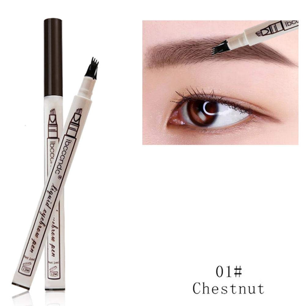 Tattoo Eyebrow Pen Waterproof Ink Gel Tint with Four Tips, Microblading Eyebrow Pencil Long Lasting Smudge-Proof Natural Hair-Like Defined Brows All Day blue--net