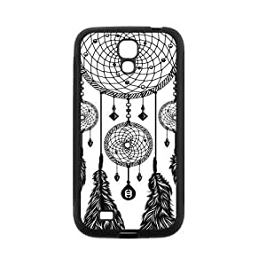 Black and White DreamCatcher Protective Rubber Back Fits Cover Case for SamSung Galaxy S4