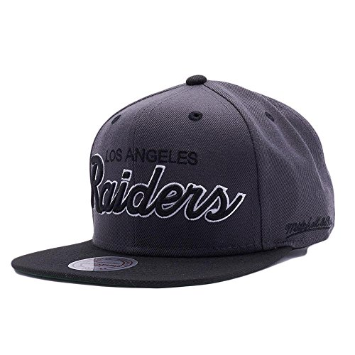 347256f934f Mitchell   Ness Los Angeles Raiders D.Grey and Black Vintage Script N.W.A Adjustable  Snapback Hat NFL - Buy Online in UAE.
