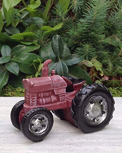 Miniature Dollhouse Fairy Garden Furniture ~ Mini Farm Red Tractor ~ -